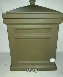 Front Door Porch Light Sturdy Express Package Parcel Delivery Box, Rich Mocha