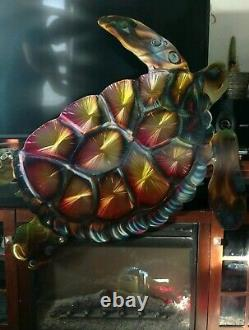 Front Porch Patio Fence beach house Ocean turtle Beach Cottage Metal Wall Art