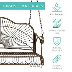Front Porch Vintage Style Outdoor Post Swing Seat Two People Seating Capacity