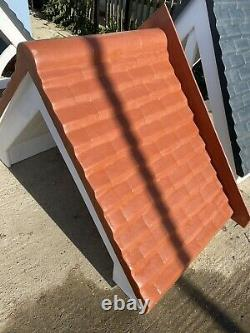GRP Front Door Porch Canopy Fibreglass Traditional Red Tile Effect