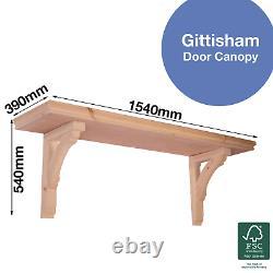 Gittisham Timber Door Canopies- Wooden front door porch canopy gallows bracket