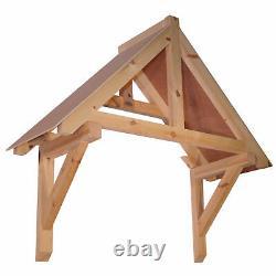 Harcombe Timber Door Canopies- Wooden front door porch canopy gallows bracket