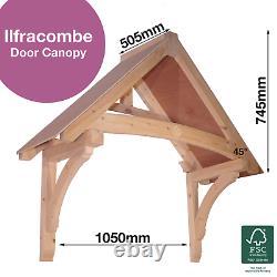 Ilfracombe -Timber Door Canopies- Wooden front door porch canopy gallows bracket