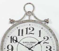 Large 78cm Pocket Watch Vintage Metal Wall Clock with Glass Front