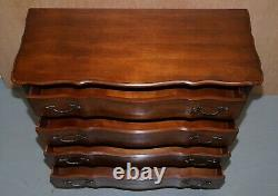 Larger Serpentine Fronted Ralph Lauren American Mahogany Chest Of Drawers