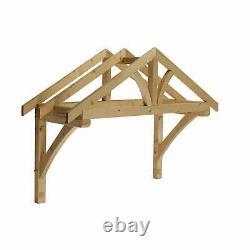 Liberty Doors Apex Front Door Pine Porch Canopy + Gallows Brackets (1550mm)