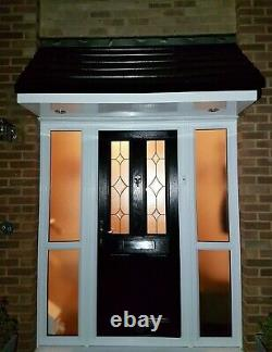 Made to measure Palermo GRP Fibreglass Overdoor Front Porch Canopy Anthracite