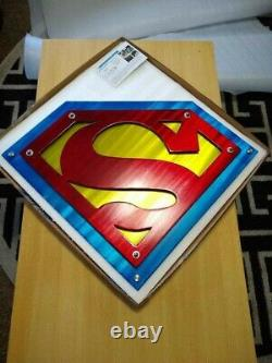 Metal Superman wall decor plasma cut logo design deck porch front door art USA