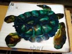 Metal Wall art turtle sculpture indoor outdoor patio cottage country front porch