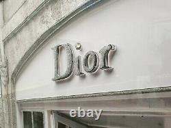 Mirror Frame Dior Shop Front Pic Glitter Liquid Crystal Glass Wall Art 116x66cm
