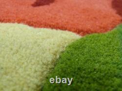 Modern Floral Handmade Wool Rug 200/250cm Kitchen Dining Hallway Bed Room Carpet