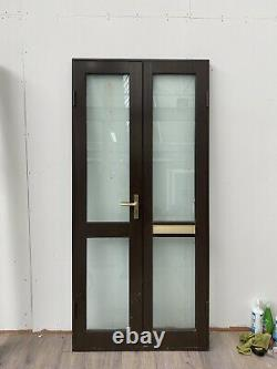 Monarch Aluminium Front Double French Doors-porch-brown-inwards Opening-opens