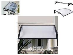 New Black Outdoor Canopy Awning Shelter Front Back Porch Patio Rain Uv Protected