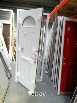 New Blue Composite Front Door Set UPVC Frame 2165 X 895