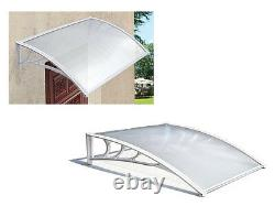 New White Outdoor Canopy Awning Shelter Front Back Porch Patio Rain Uv Protected