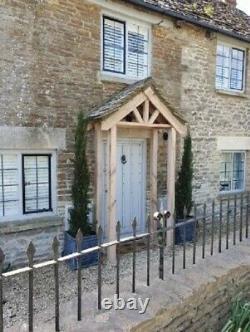 Oak Front Door Canopy Porch & Stilts (NOT TILED)