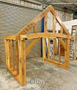Oak Porch Full Curved Front Beam Width UPTO 2600mm Bespoke sizes made