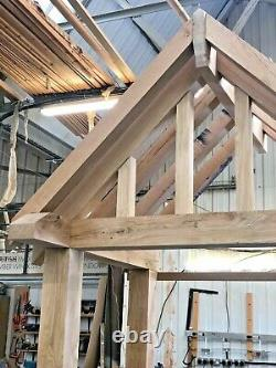 Oak Porch + Over Hanging Front Rafters We Make To Any Designs & Any Sizes