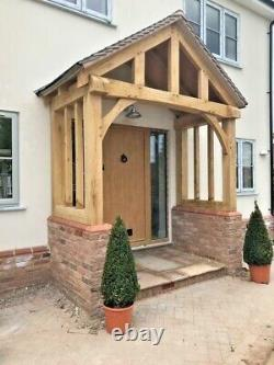 Oak Porch With Curved Front Beam Bespoke designs & sizes made Any design