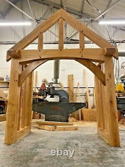 Oak Porches Curved Front Beam Width UPTO 2200mm Other sizes can be made