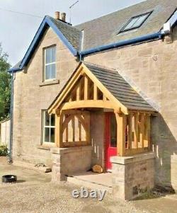 Oak frame porch, self assembly kit, timber frame canopy, front door