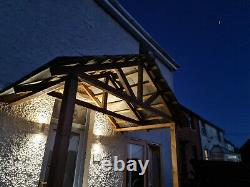 Open front porch, artificial slate and wood, W 1800 x L 1800mm x H 3000mm