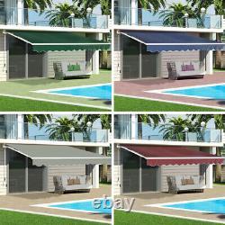 Outdoor Door Canopy Window Front Porch Overhead Roof Cover Manual Retractable