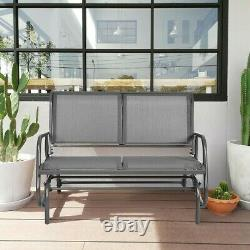 Outdoor Rocking Chair Front Porch Patio Wide Swing Glider Chair 48 Rocker