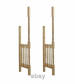 Pine Turned Porch Side Kit / Entrance Kit For Front Door