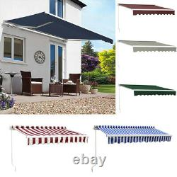 Retractable Door Canopy Window Front Porch Overhead Roof Cover Manual 5 Size