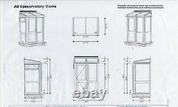 SPECIAL OFFER White double glazed upvc front porch 6ft x 4ft base with panels