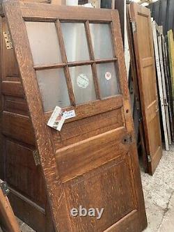 SUPER RECLAIMED OAK FRONT / PORCH DOOR (Glazed) 34 Wide Victorian / Georgian