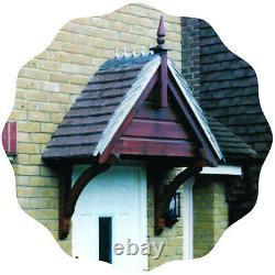 Shiplap Timber Door Canopies -wooden front door porch canopy, gallows bracket