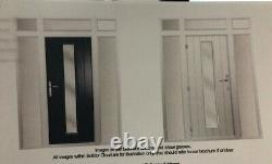 Solidor Amalfi Composite Front Door Anthracite Grey door, white uPVC frames