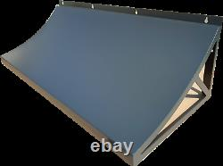 Steel Metal Door Canopy Roof Shelter Awning Shade Rain Cover Porch Front Back