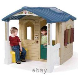 Step2 Playhouse with Front Porch Brown Plastic Kids Children Game Toy 794100