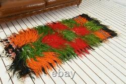 Textured Rug, 3.1 x 6.2 ft, 95x190, Turkish Rug, Small Size Rug, Frontdoor Rug