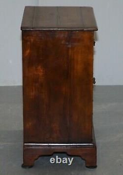 Theodore Alexander Faux Book Fronted Side End Wine Table Butlers Tray Drawers