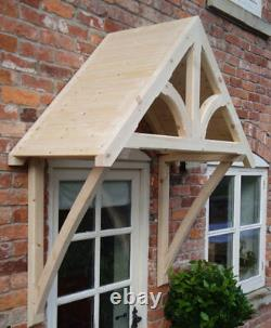 Timber Front Door Canopy Porch, BLAKEMERE Curved GALLOWSawning canopies