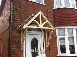 Timber Front Door Canopy Porch, BLAKEMERE SCROLLED GALLOWSawning canopies