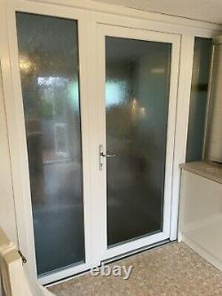UPVC DOUBLE GLAZED DOOR, FRAME And 2 X PVCU-SIDE LIGHT-PORCH