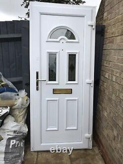 Upvc Door Front White 900 2050 Garage Shed Porch Kitchen New
