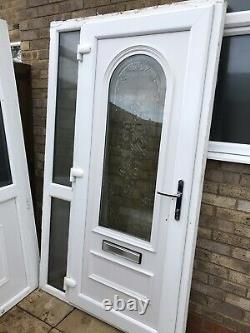Upvc Porch Front White Side Screen Welded Cill