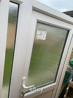 Upvc Pvcu Front Entrance Door White Sidelight External Low Threshold