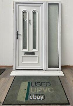 Upvc Pvcu Front Entrance Door-white-sidelight-external-exterior-low Threshold