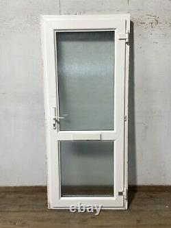 Upvc Pvcu White Front Entrance Door-distorted-exterior-external-double Glazed