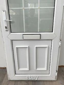 Upvc Pvcu White Front Entrance Door-georgian Bars-porch-exterior-used-inwards