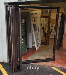 Upvc bifold double glazed doors Rosewood oak garden room summerhouse 1795x2035
