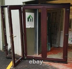 Upvc bifold double glazed doors Rosewood oak garden room summerhouse 2400x2035