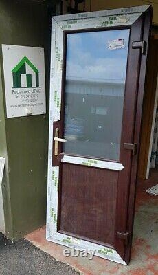 Upvc double glazed door rosewood garage Mancave garden room pvc 830x2049 (6522)